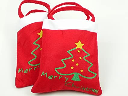 Amazon hot christmas gift fabric decorative candy bag