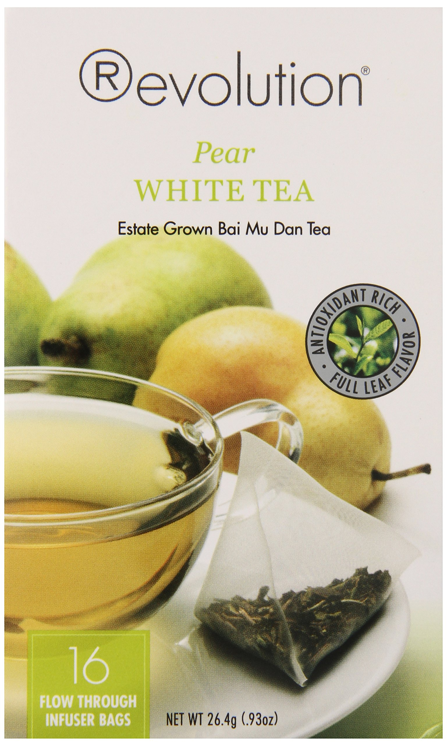 Revolution Tea White Pear Tea, 16-Count Teabags (Pack of 6) by Revolution Tea (Image #1)