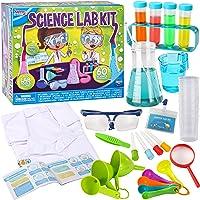 Klever Kits Kit de laboratorio científico para niños 60 experimentos científicos con bata de laboratorio, disfraz de…