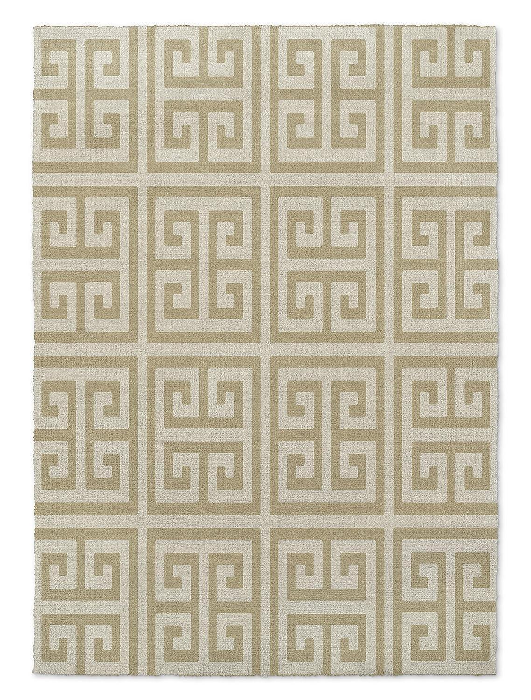 Gold KAVKA Designs Infiniti Keys Gold Area Rug, - ENCOMPASS Collection BGAAVC518RUG57 Size: 5x7x.5 -