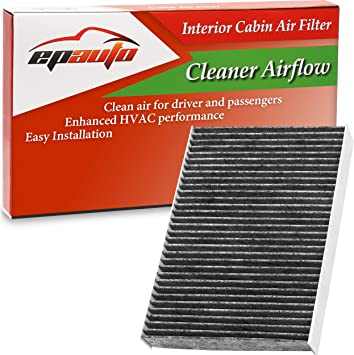 EPAuto CP854 (CF11854) Cabin Air Filter includes Activated Carbon Replacement for Nissan Rogue (2014-2020), Rogue Sport (2017-2020)