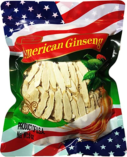 888Warehouse – 4 OZ Premium American Ginseng Hand Selected Grade Root Thin Slices