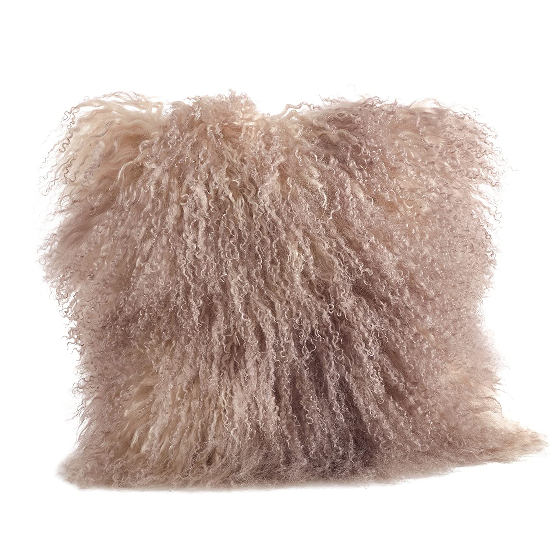 Haute Couture純正Mongolian Fur Throw枕( 20