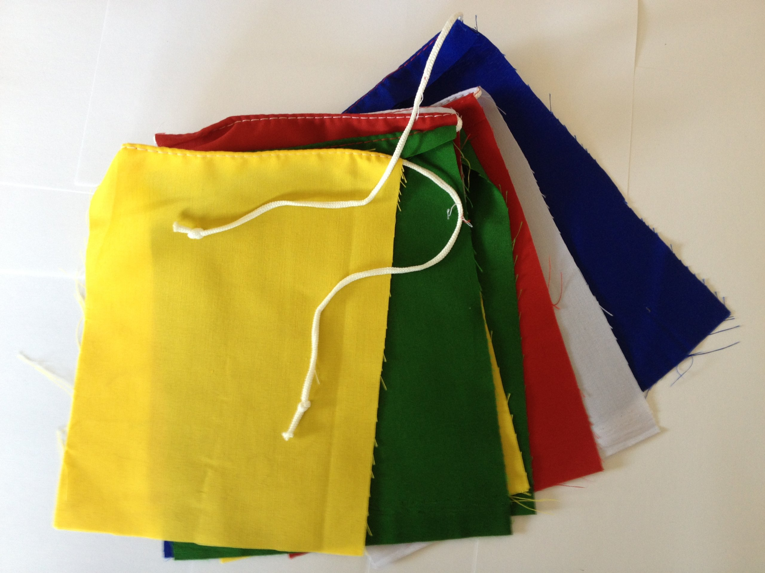 Blank Prayer Flags Set of 10 Flags