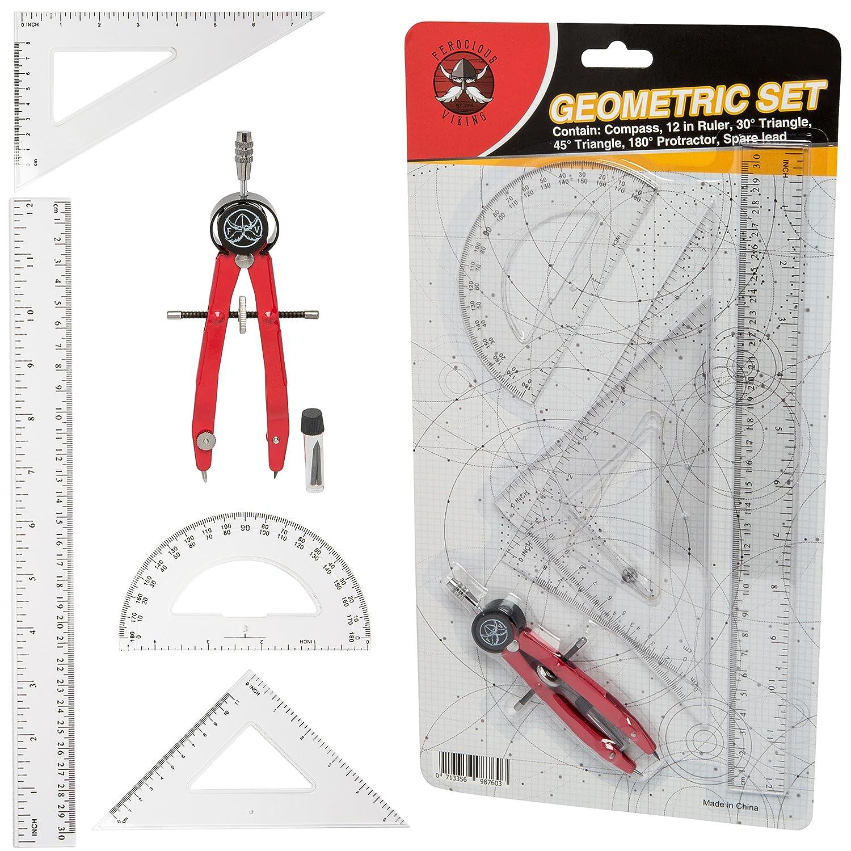 Ferocious Viking Products 6 pz Set bussola di geometria