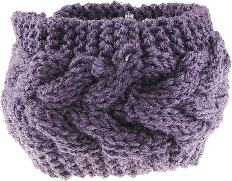 Ladies Warm Winter Chunky Cable Knit Headband Ear Warmer
