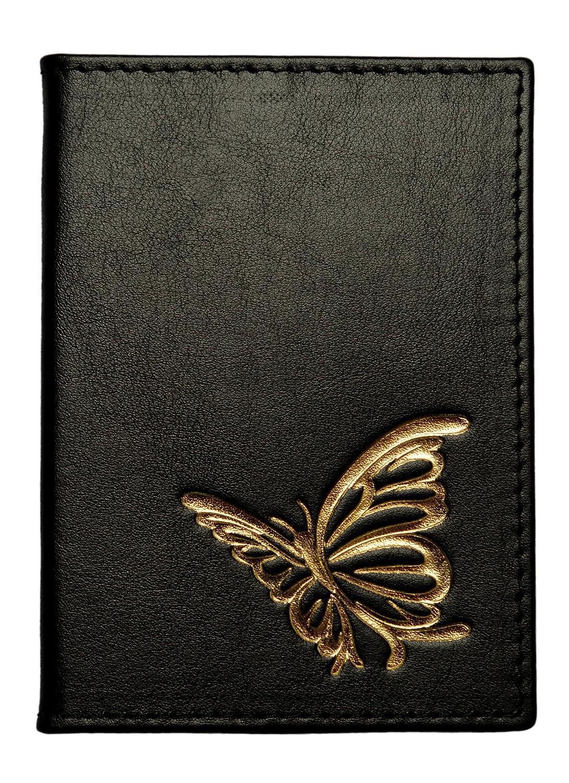 OPTEXX® RFID Reisepass Schutzhülle Baltica schwarz-gold Schmetterling TÜV geprüft und zertifiziert Baltica noir-or Butterfly