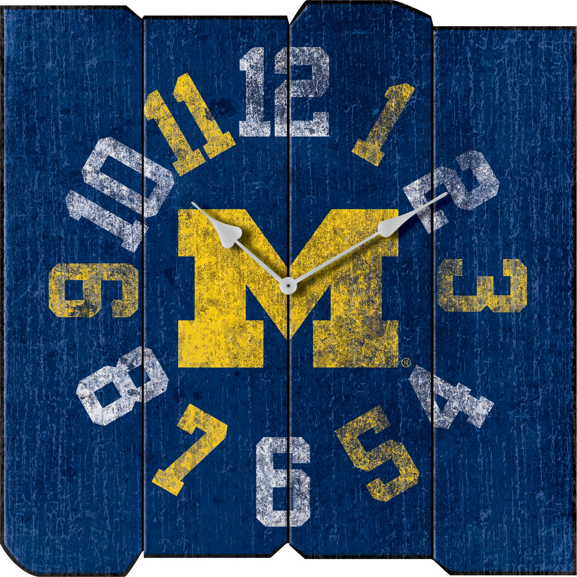 Imperial Officially Licensed NCAA Merchandise: Vintage Square Clock, Michigan Wolverines by Imperial