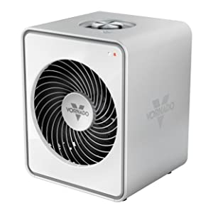 Vornado VMH10 Personal Metal Heater with 2 Heat Settings White