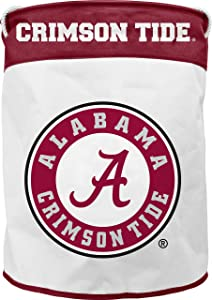 NCAA Alabama Crimson Tide Canvas Laundry Basket with Braided Rope Handles