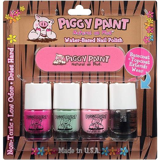 Amazon com: Piggy Paint 100% Non-Toxic Girls Nail Polish, Safe