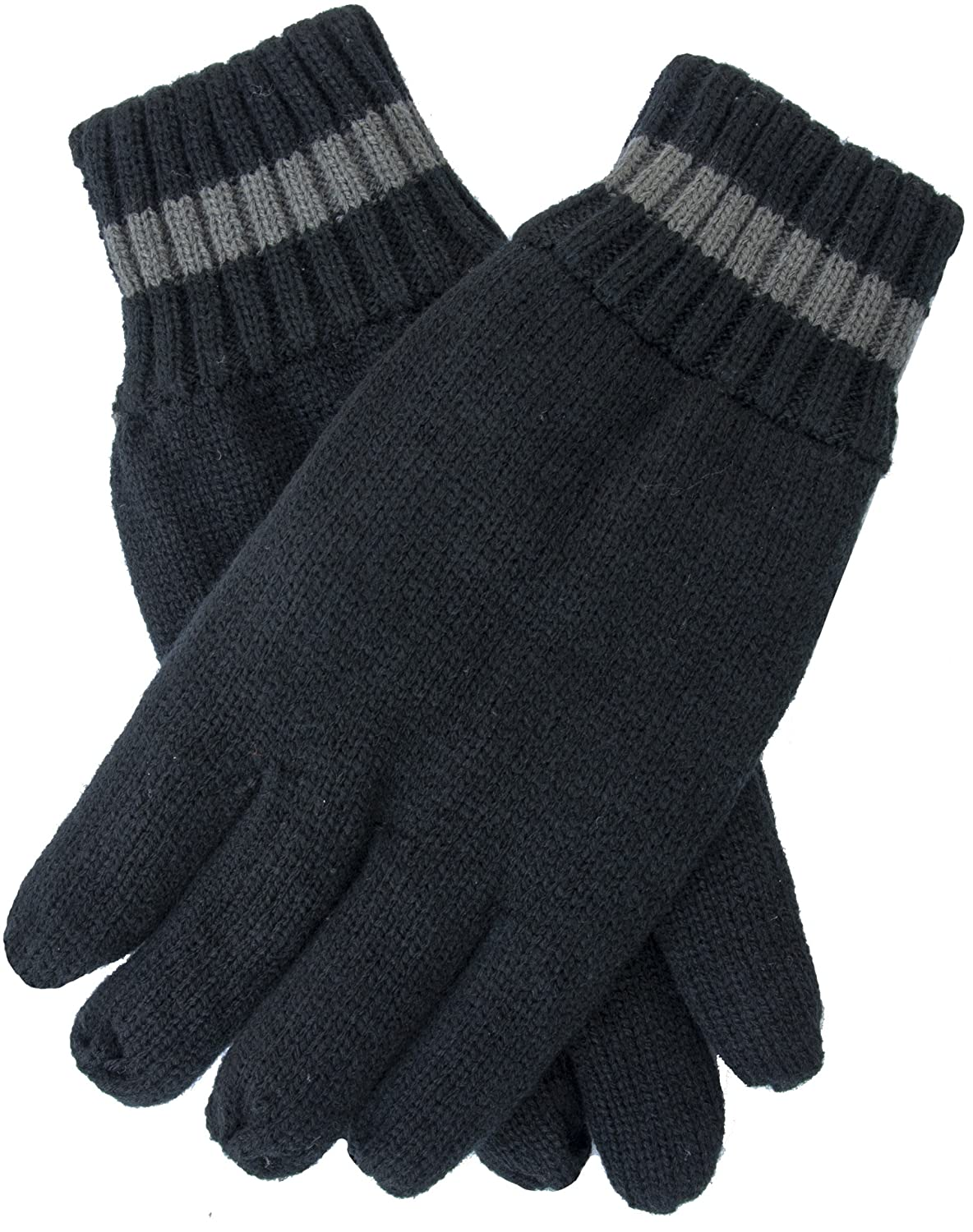 EEM Big Men's knitted glove TOM, with thermal lining, warm, winter, black XL 2889M-SZXL