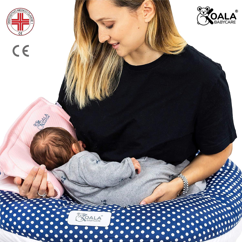 Almohada Plagiocefalia beb/é de lactancia Koala Babycare/® en memory foam para la prevenci/ón y el tratamiento de la plagiocefalia con funda extra/íble - Blanco con 2 fundas de almohada cabeza plana