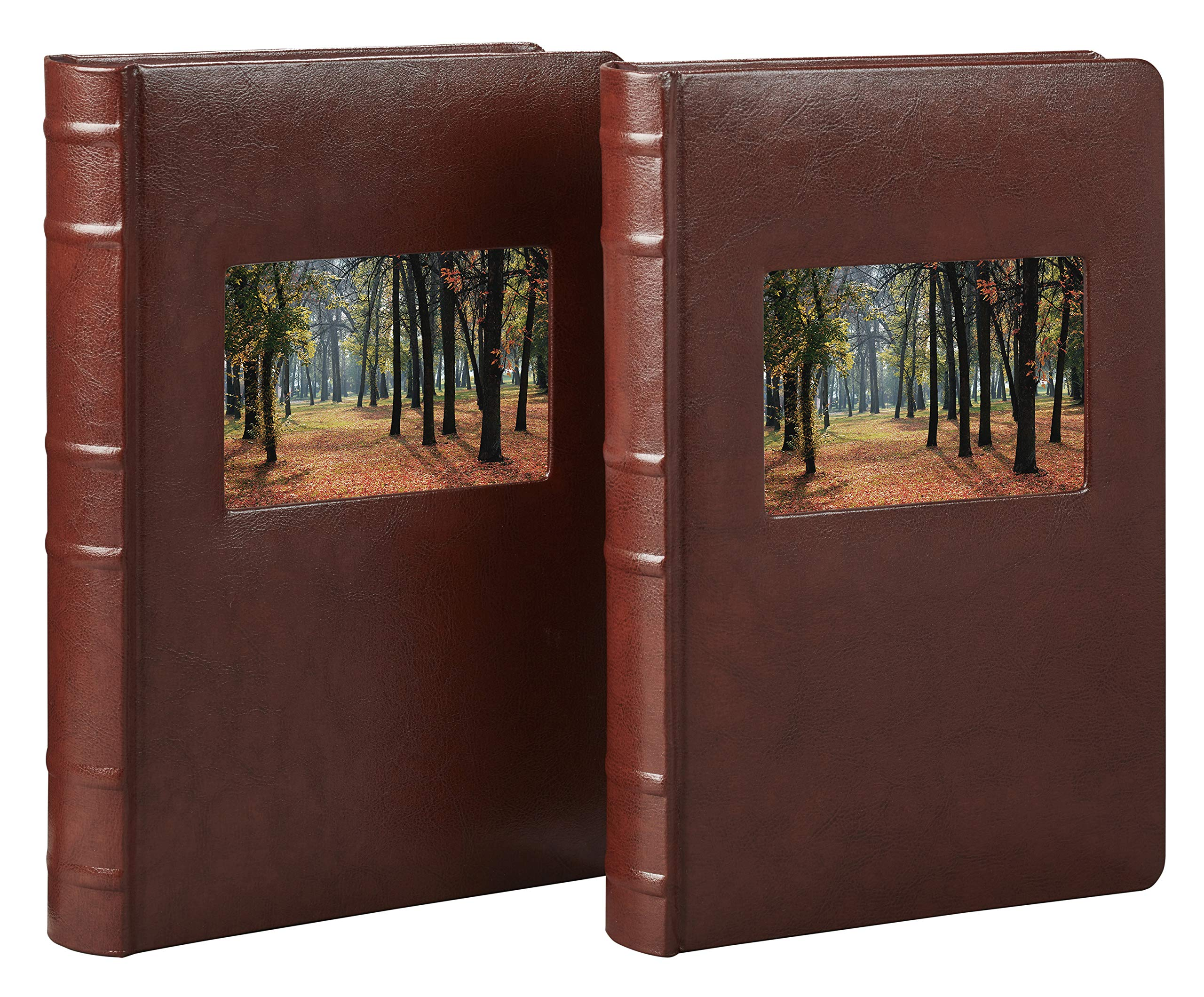 Old Town Bonded Leather Photo Album, 2 Pack (Brown) by Old Town