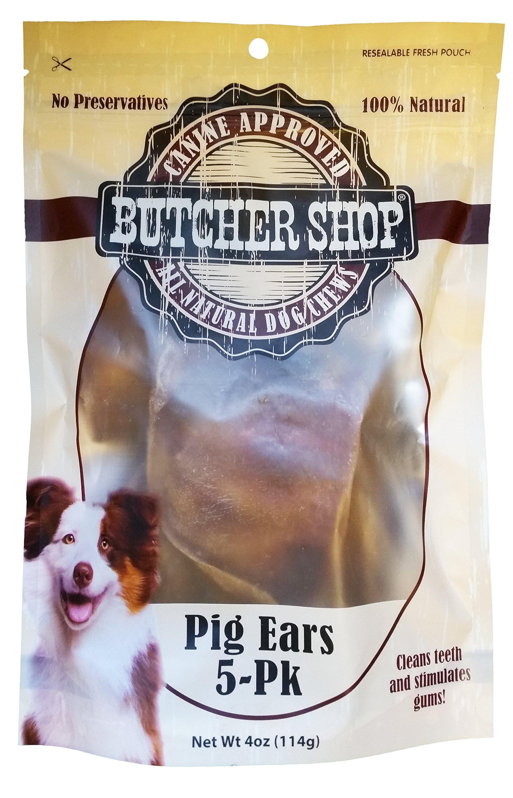 Butcher Shop 100% Pig Ears (5 Pack), 114 g by Butcher Shop (Image #2)