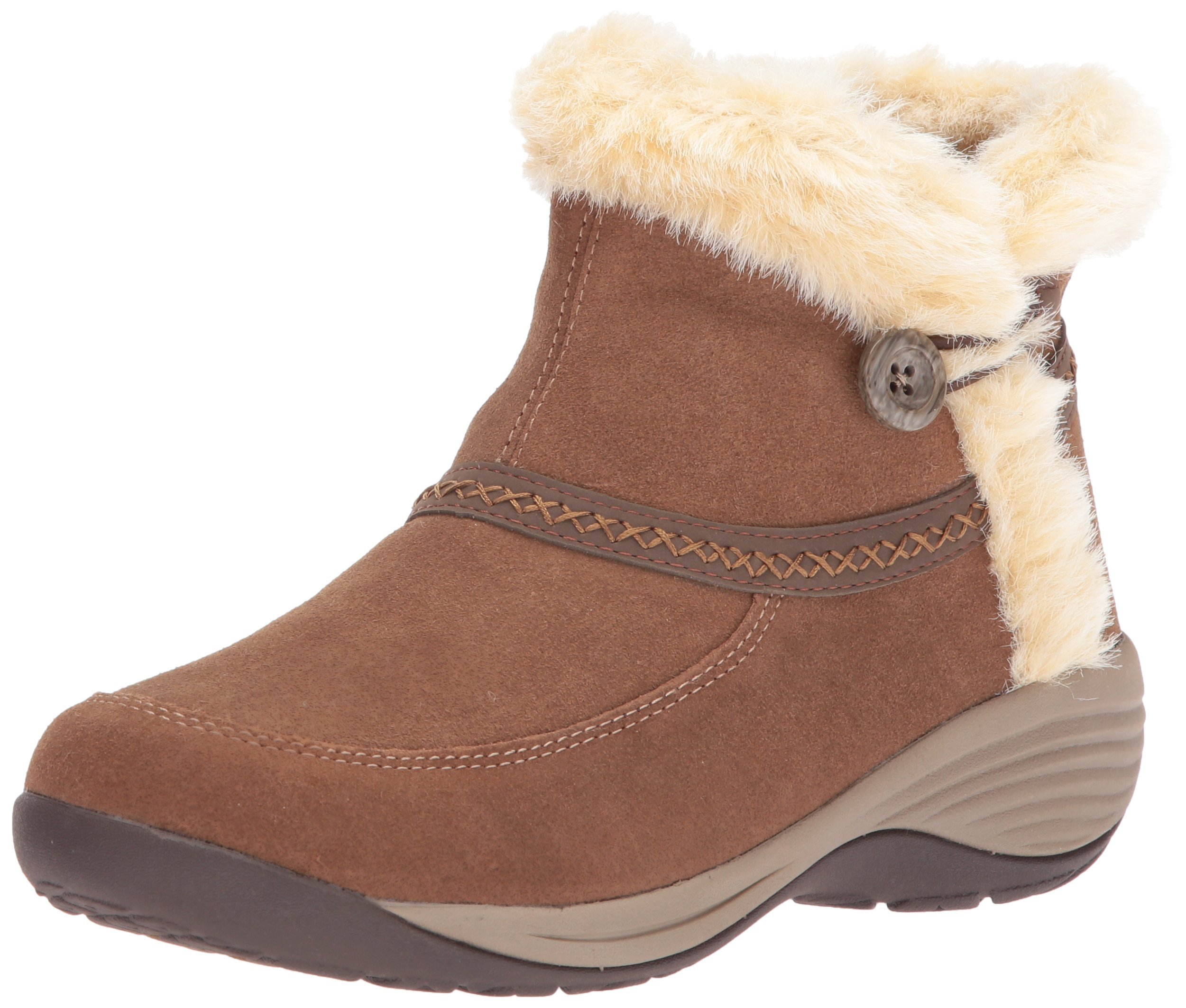 Easy Spirit Women's Icerink Ankle Bootie, Dark Natural Multi Suede, 6 W US