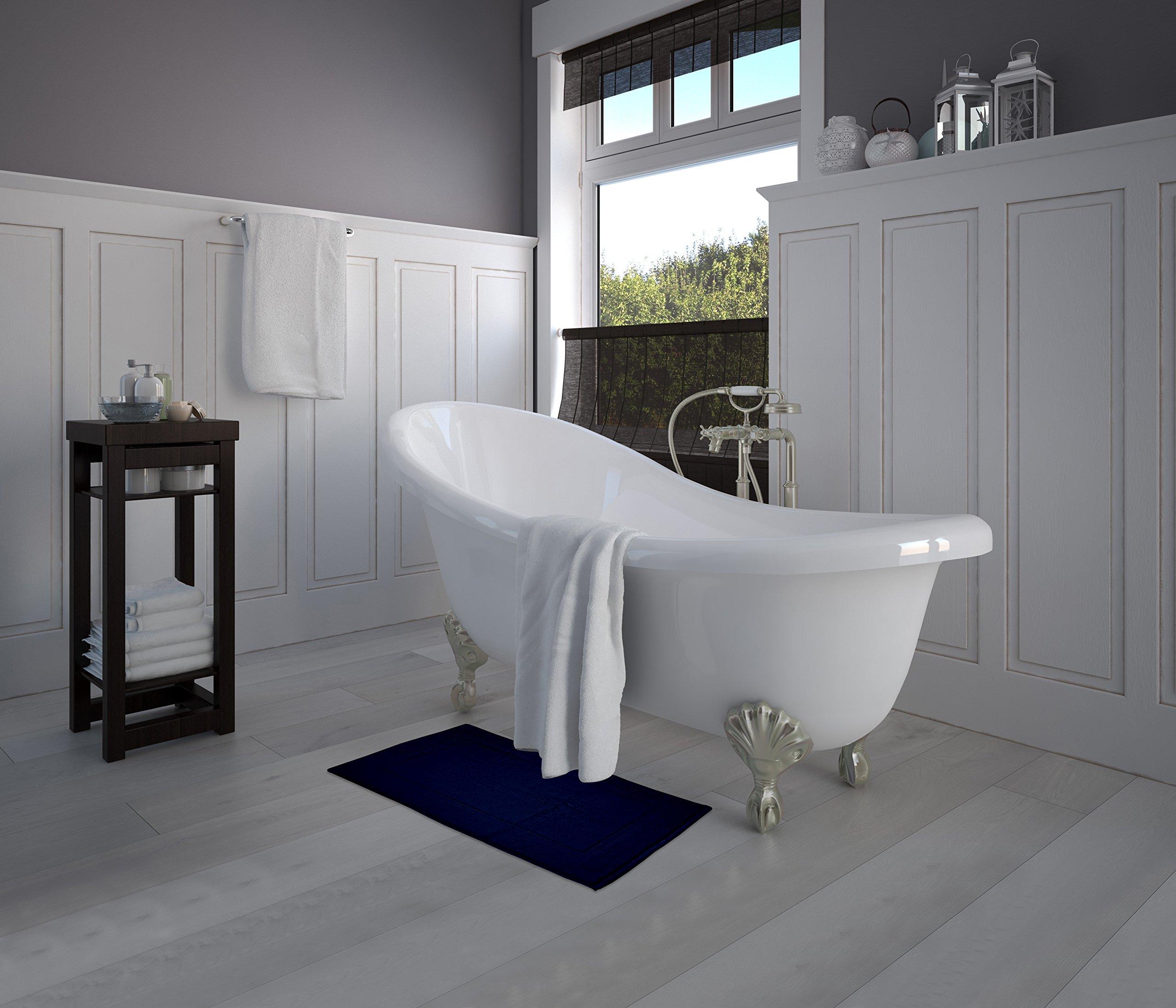 Luxury Cotton Hotel-Spa Tub-Shower Bath Mat Floor Mat - (2 Pack ...