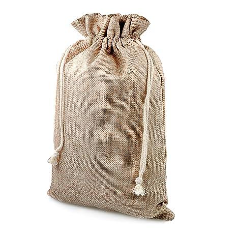 Bolsita de Regalo para Navidad, 8 unidades, saco de yute saco de yute, bolsa de yute, bolsa de plástico, natural bolsitas, saco, bolsa, tamaño: XL ...