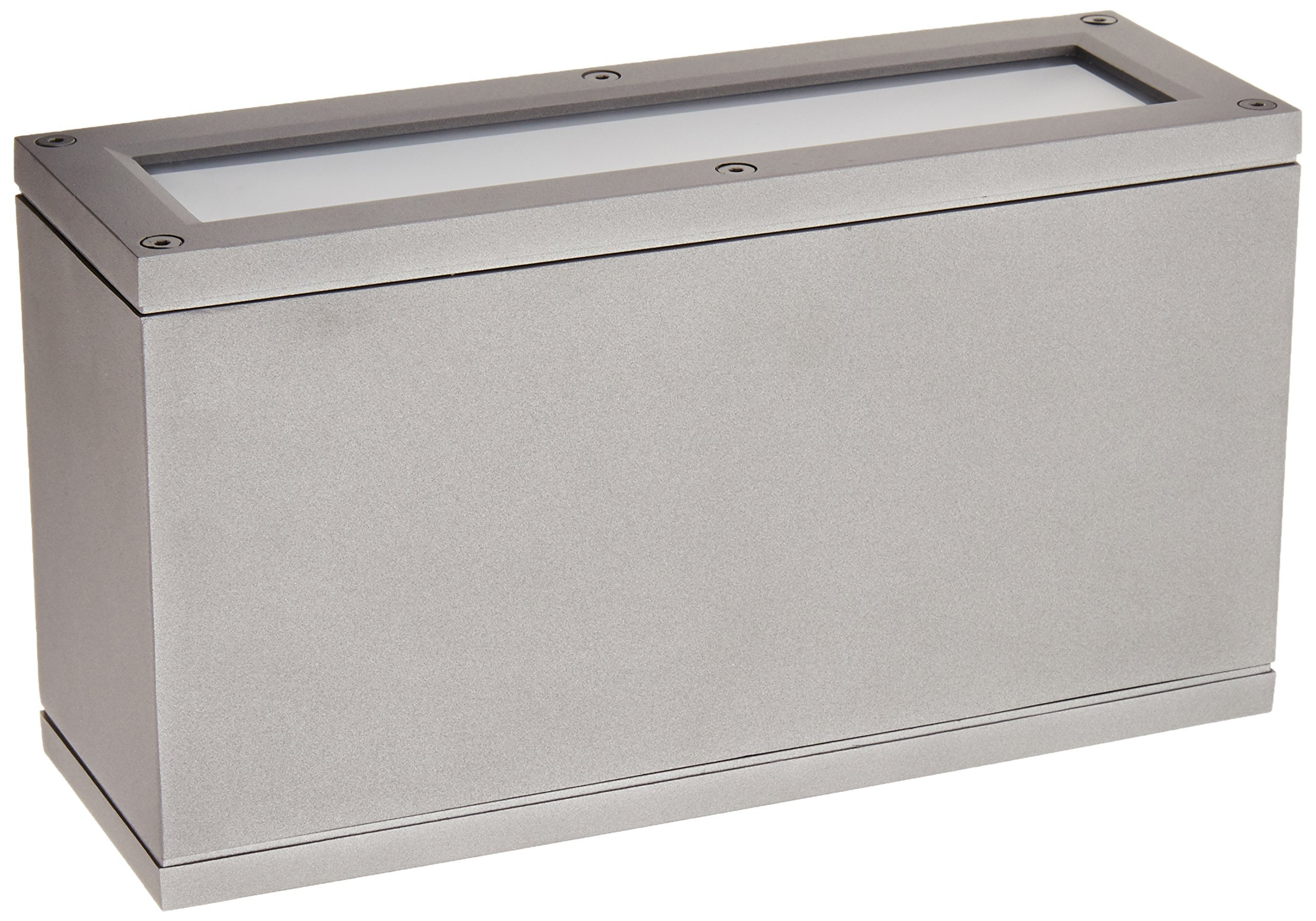 WAC Lighting WS-W2510-GH Rubix LED Outdoor Rectangular Up and Down Wall Light Fixture, One Size, White/Graphite