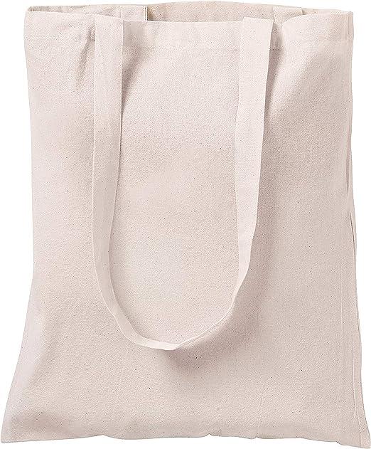 10 bolsas de algodón natural para compras, 33 cm x 40 cm: Amazon ...