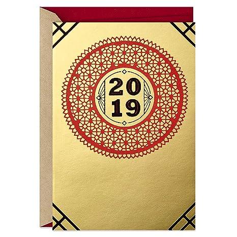 Amazon.com: Hallmark 2019 - Tarjeta de Año Nuevo de China ...