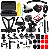 Soft Digits 48 in 1 Accessories Kit for GoPro Hero 5 4 3+ 3 2 1 Action Camera Bundle Set for SJCAM SJ4000 5000 6000 7000 Xiaomi Yi, Apeman DBPOWER Lightdow WiMiUS Rollei IceFox ODRVM