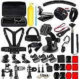 Zubehör für GoPro, Soft Digits 48 in 1 Kamera Zubehör Kit für GoPro Hero 5 4 3+ 3 2 1 SJ4000 5000 6000 Xiaomi Yi, Apeman ODRVM DBPOWER QUMOX WiMiUS Rollei IceFox