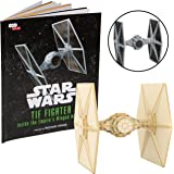 Star Wars Tie Fighter Book and 3D Wood Model Kit - Build, Paint and Collect Your Own Wooden Model - Great for Kids and Adults, 12+ - 4.5""