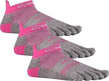 Injinji Run 2.0 ligero No Show Calcetines de dedos para Athletic 3-Pack (Canyon