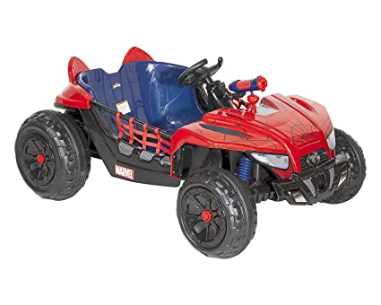 91ys9SNo sL._SX425_ amazon com spiderman 12v web rider dune buggy ride on, red blue