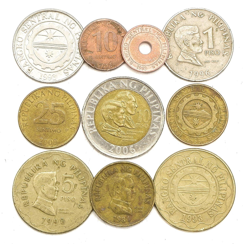 Philippines set of 3 coins 5-10 piso 2014 UNC