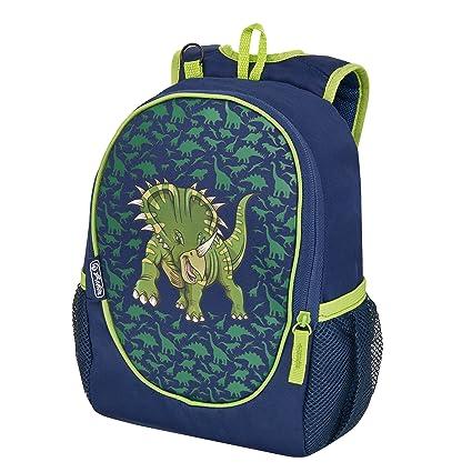 Herlitz Rookie Dino Niño School Backpack Azul, Verde Poliéster - Mochilas Escolares (Niño,