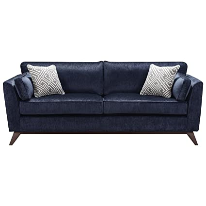 Coaster Home Furnishings 505524 Living Room Sofa Midnight Blue/Dark Brown