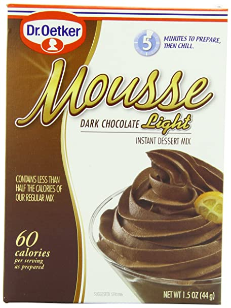 Oetker Mousse Supreme Light Premium Mouse Mix Dark Chocolate Truffle 1 5 Ounce Bo Pack Of 12 Co Uk Kitchen Home