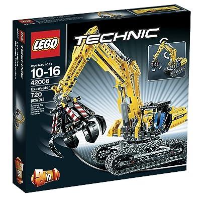 LEGO Technic 42006 Excavator: Toys & Games