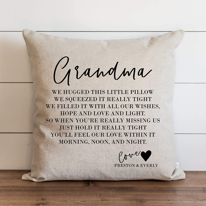 athena bacon grandma 20 x 20 pillowcase cover custom from grandkids personalized grandchildren grandparent nana and papa grandma