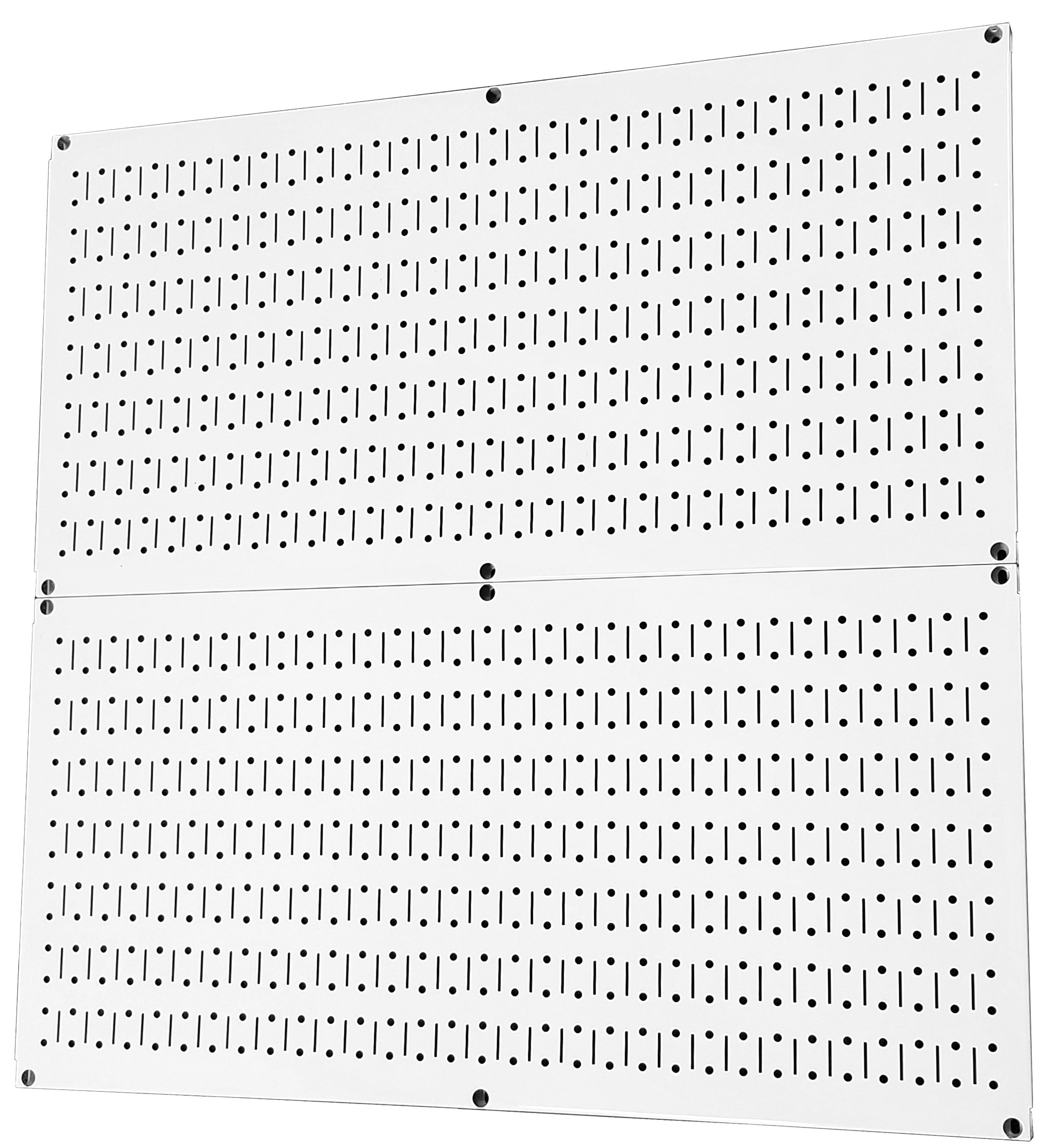 Wall Control Pegboard Rack Steel Pegboard Pack White Peg Boards – Two 32-Inch x 16-Inch White Metal Pegboard Panels