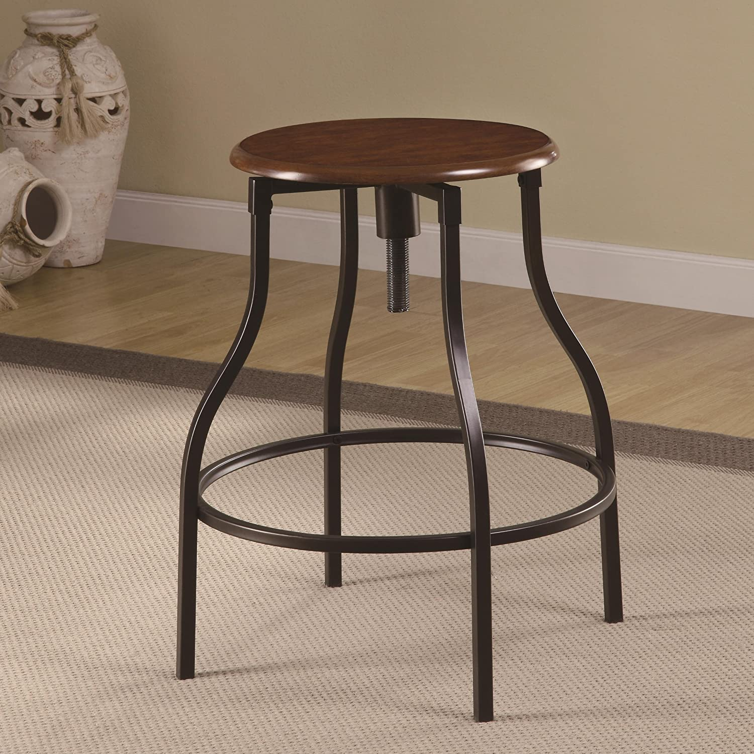 & Amazon.com: Coaster Adjustable Bar Stool-Black: Kitchen u0026 Dining islam-shia.org