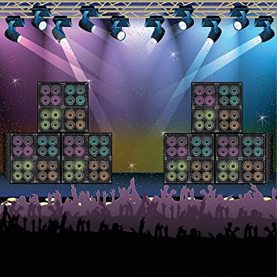 Fun Express Rock Star Vacation Bible School & Party Backdrop Banner: Toys & Games