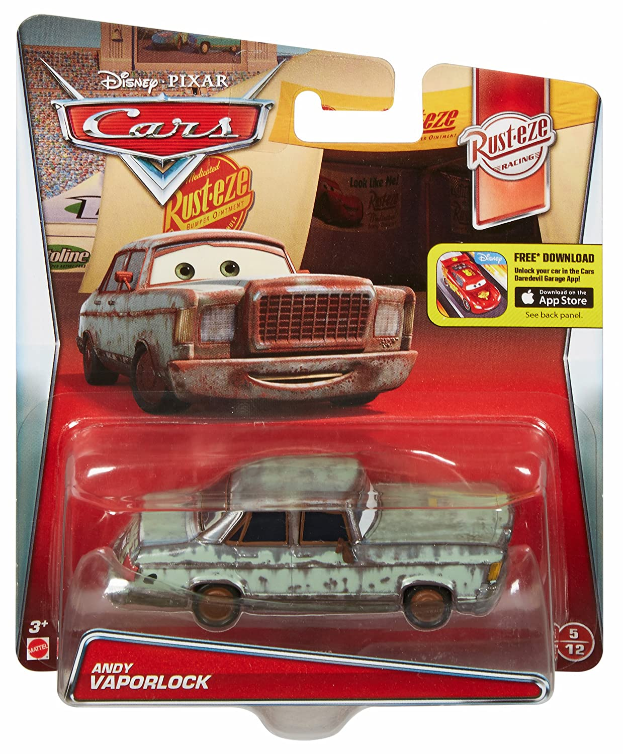 Disney/Pixar Cars Andy Vaporlock Vehicle by Mattel: Amazon.es: Juguetes y juegos