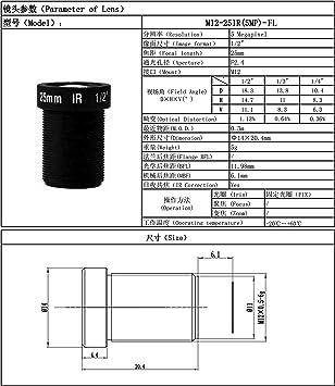 5/MP Action Kamera Objektiv 16/mm M12/1//5,1/cm IR-Filter f/ür Gopro SJCAM Kamera Long Distance View