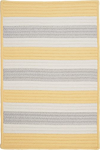 Stripe It Rug, 2 by 3-Feet, Yellow Shimmer