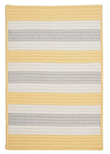 Stripe It Rug, 4 by 6-Feet, Yellow Shimmer