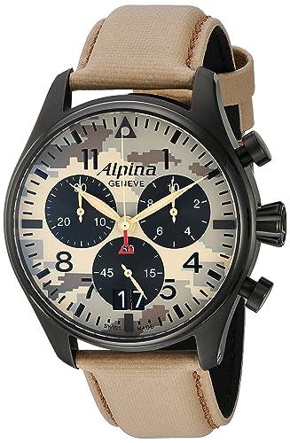 ALPINA STARTIMER PILOT DESERT CAMOUFLAGE RELOJ DE HOMBRE CUARZO AL-372MLY4FBS6: Amazon.es: Relojes