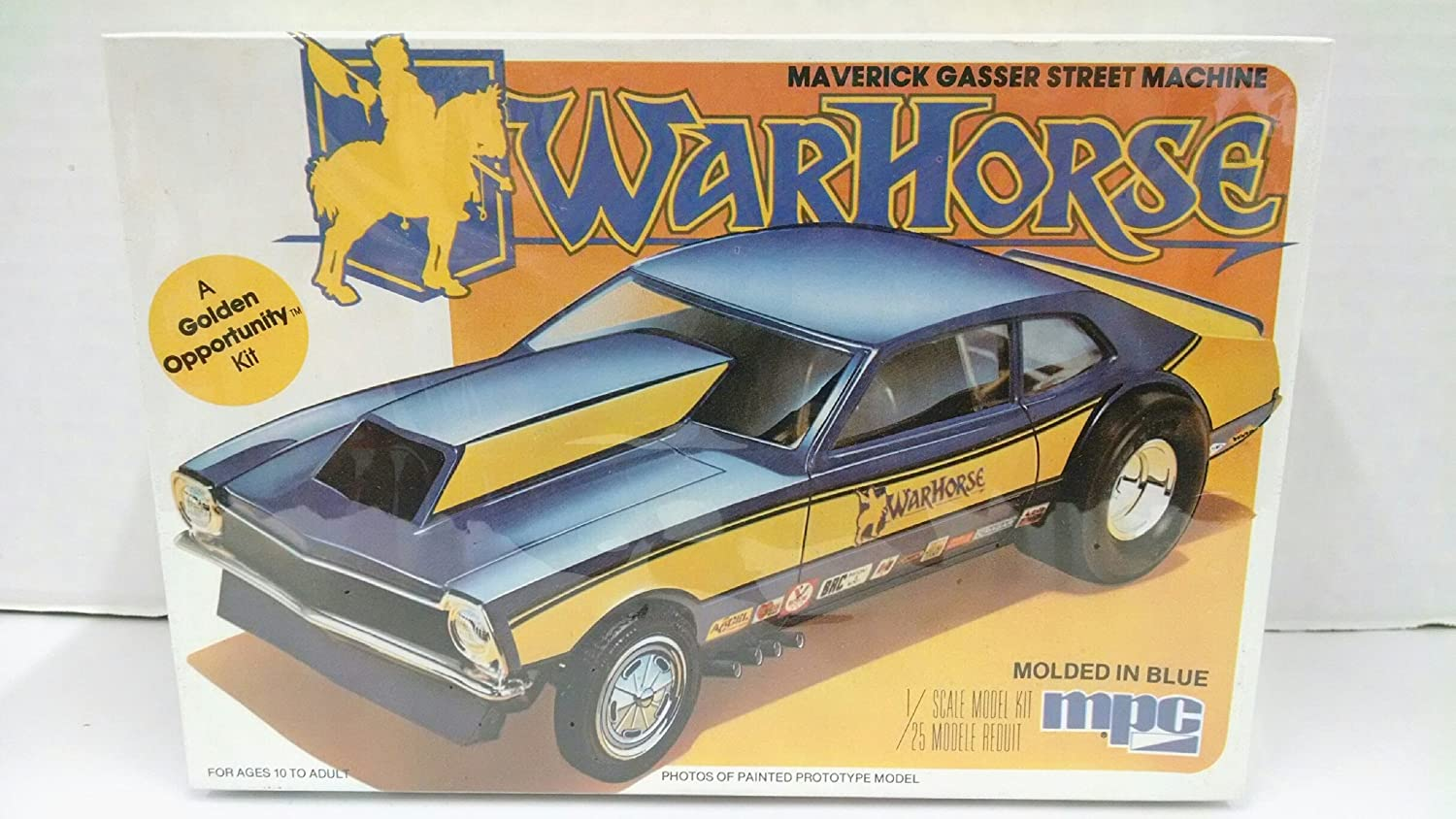 Mpc 1 0831 War Horse 1975 Maverick Gasser Street Machine 1972 Ford Wiring Harness Kits 125 Scale Plastic Model Kit Requires Assembly Toys Games