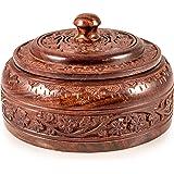 Autentica scatola indiano di legno fatta a mano (Dabba)