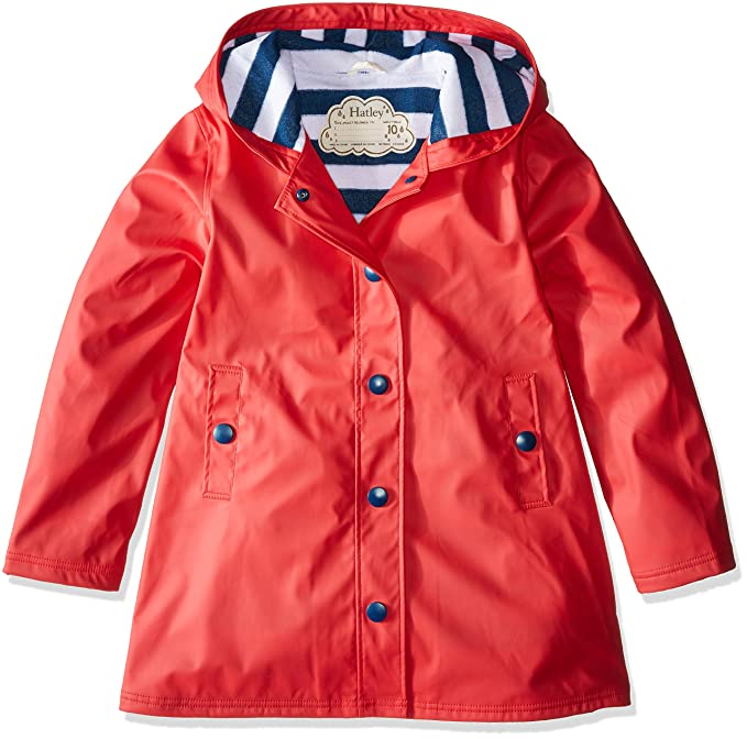Hatley Big Girls' Splash Jacket, Red, 7 best kids' raincoats