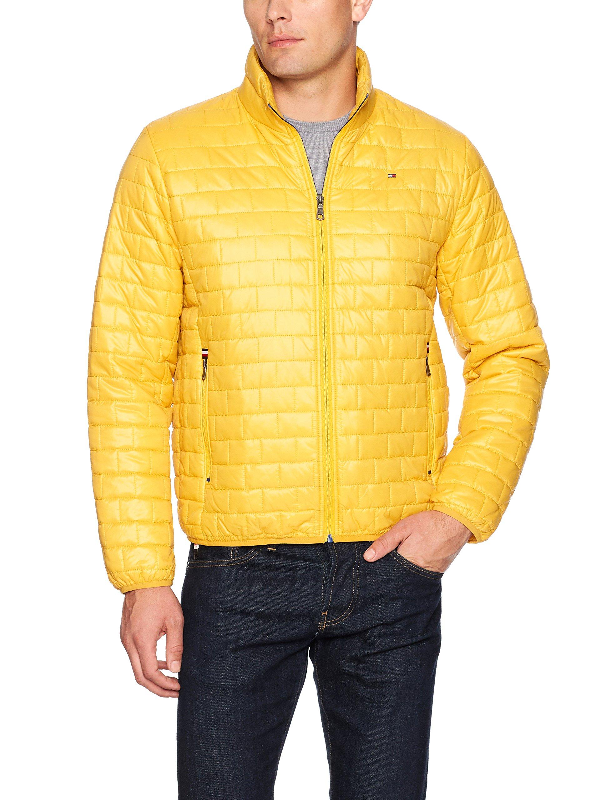 Tommy Hilfiger Men's Ultra Loft Sweaterweight Quilted Packable Jacket, Yellow, Medium