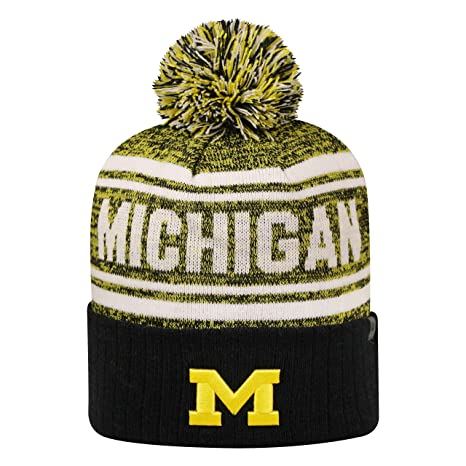 e0b7a53a435ea Amazon.com   Top of the World Michigan Wolverines Driven Cuffed Pom ...