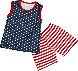 Dress Up Dreams Boutique Boys Patriotic 4th of July Tank Top & Shorts Set (2 Pc) Pink